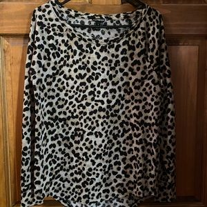 Express Leopard Long Sleeve Top - Size S